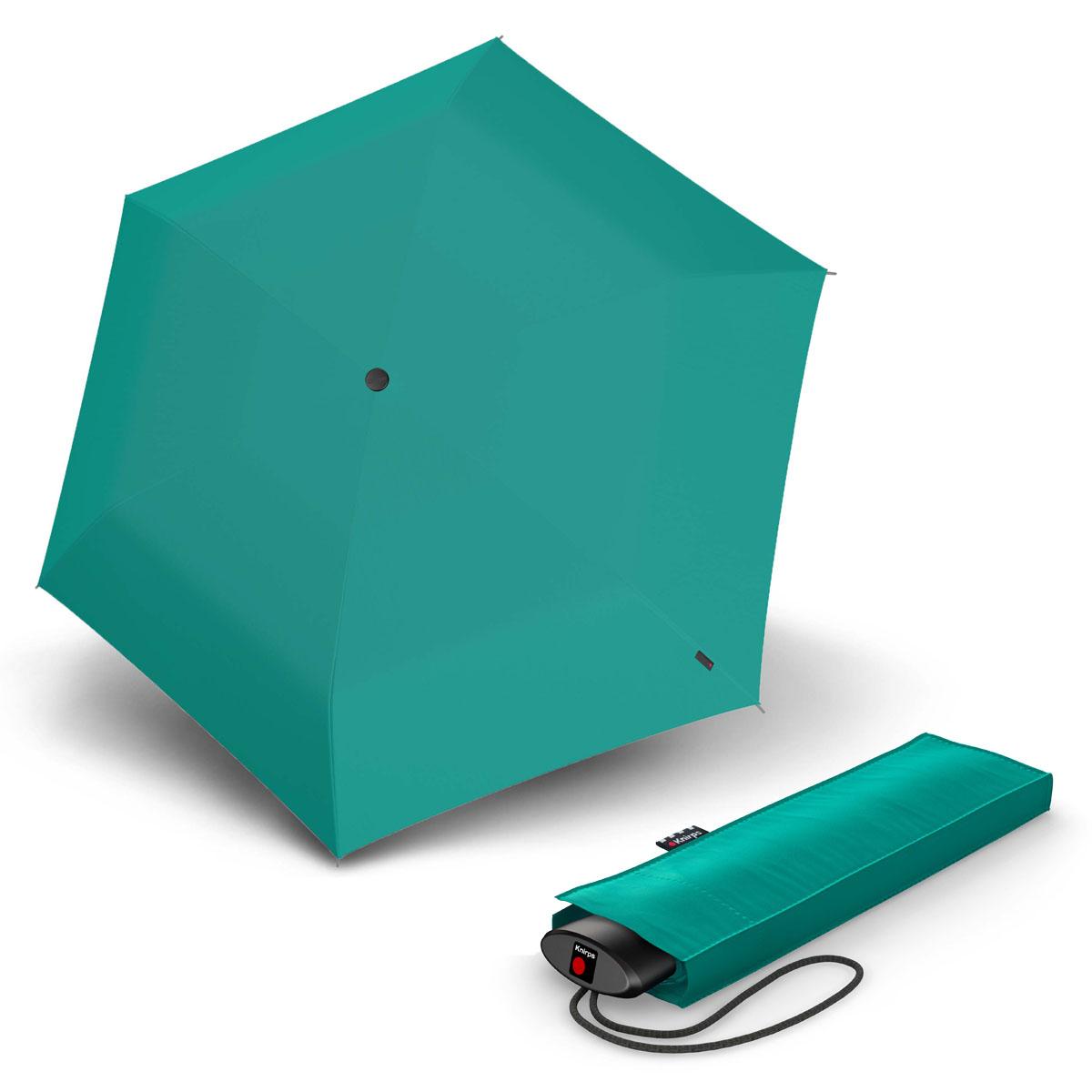 Knirps AS.050 Slim Small Manual - dámský skládací plochý deštník tyrkysová