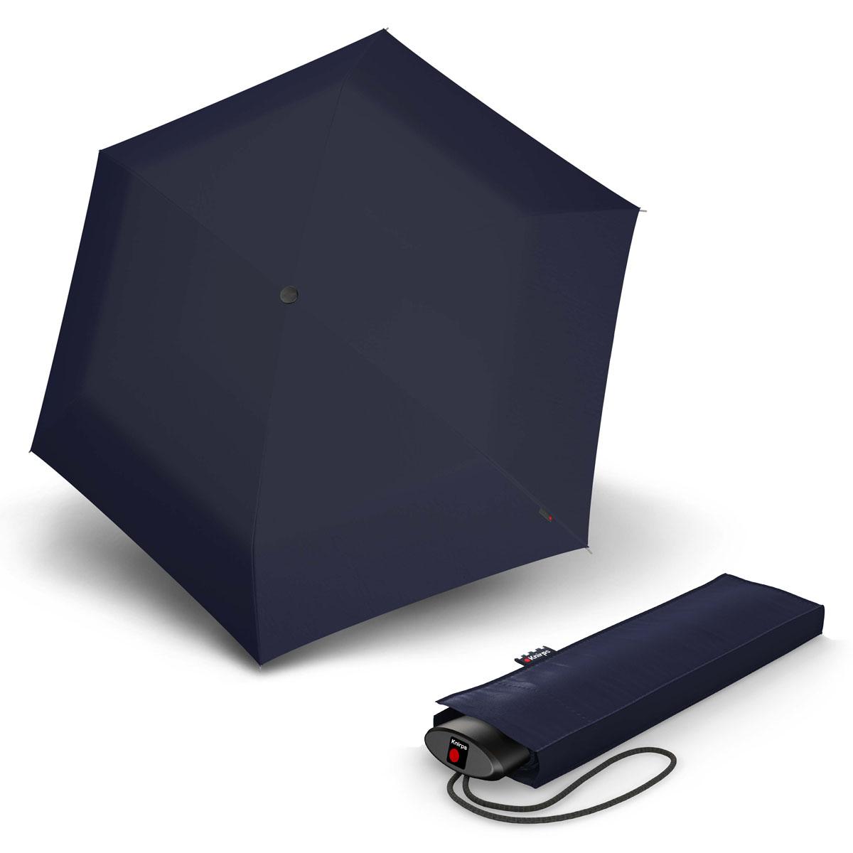 Knirps AS.050 Slim Small Manual - dámský skládací plochý deštník tmavě modrá