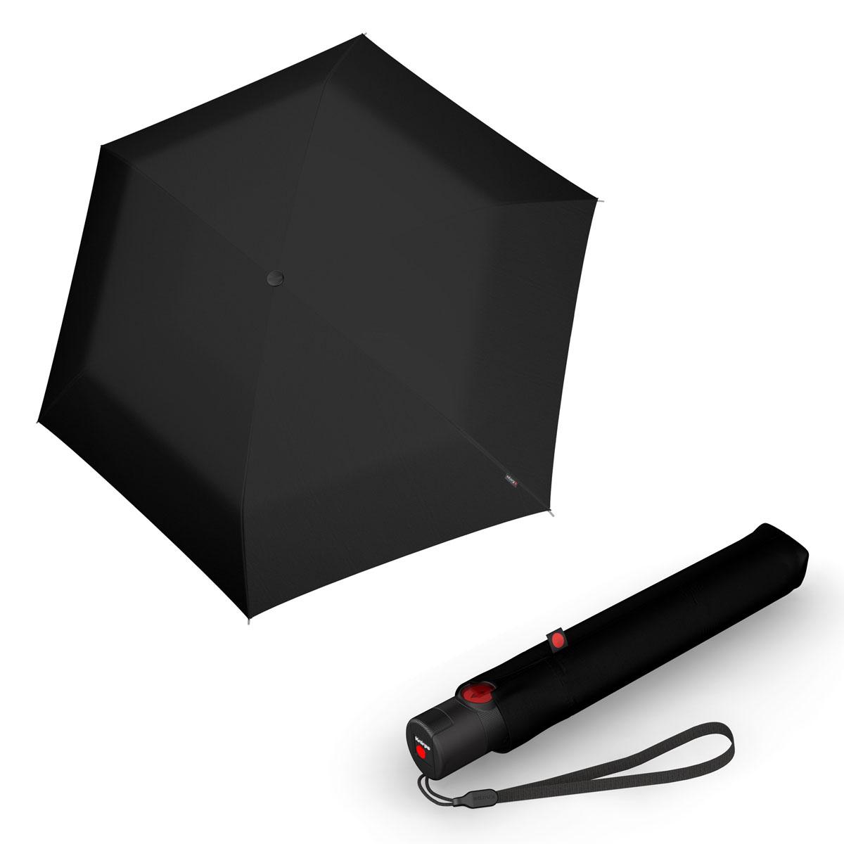 Knirps Ultra U.200 Medium Duomatic - unisex plně-automatický deštník černá
