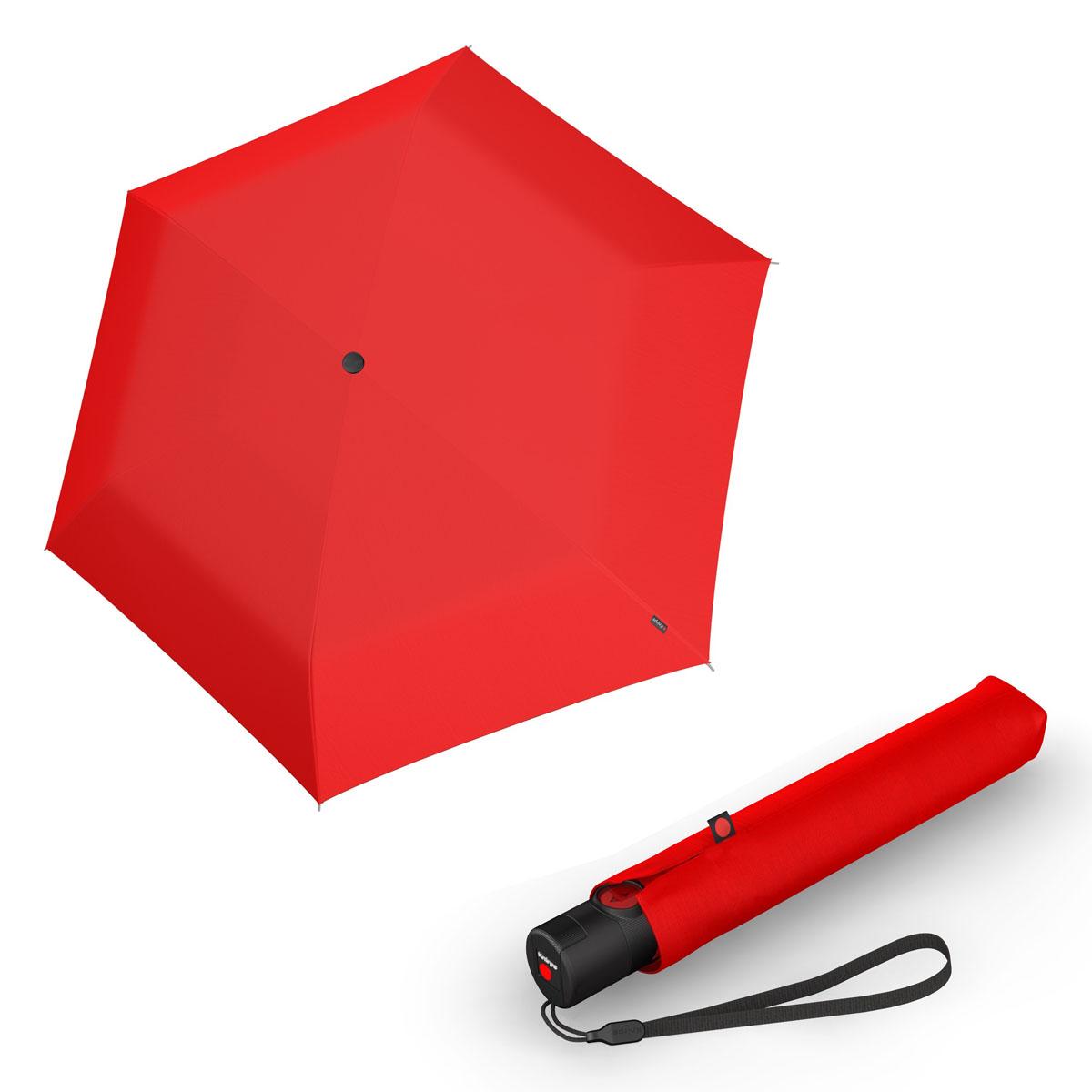 Knirps Ultra U.200 Medium Duomatic - unisex plně-automatický deštník červená