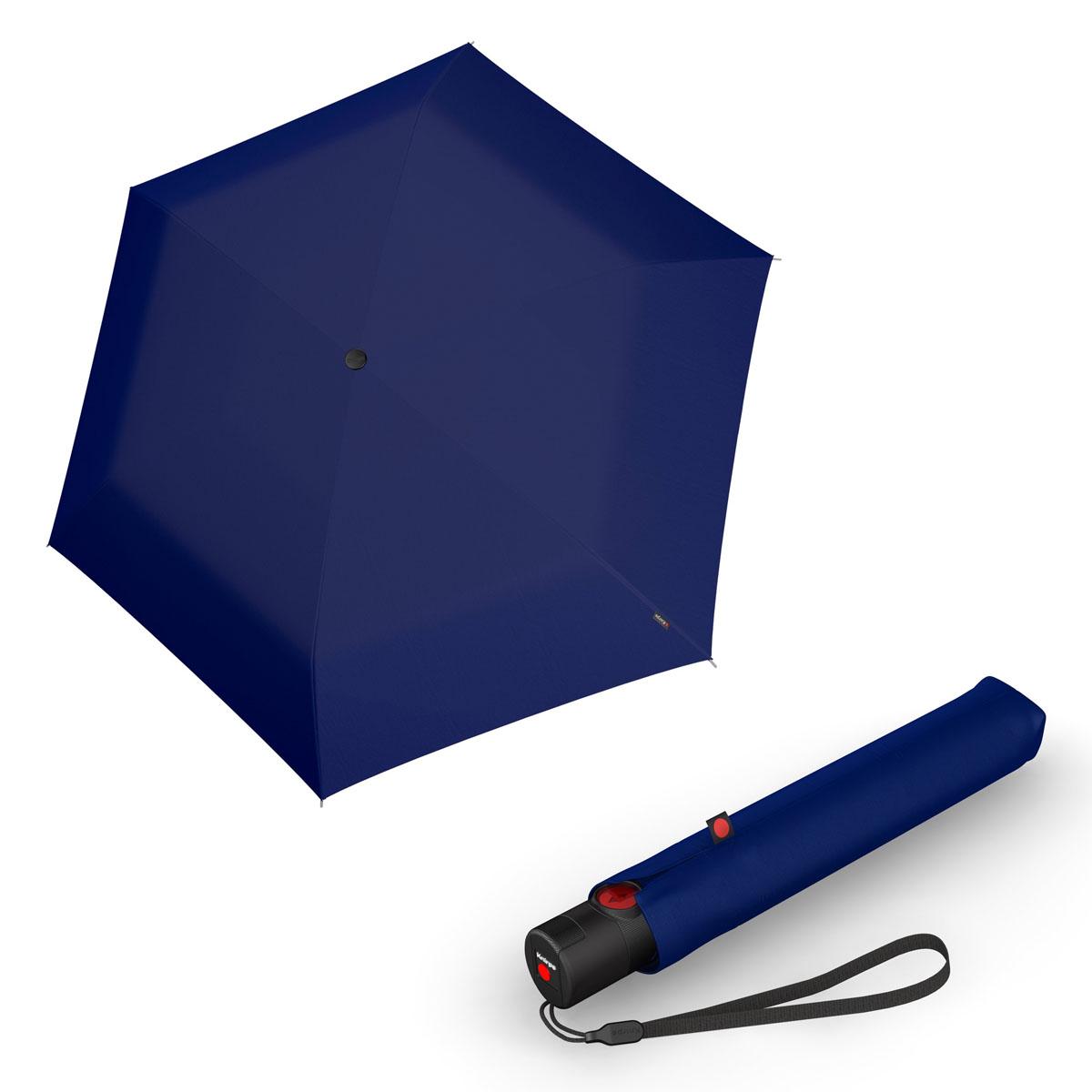Knirps Ultra U.200 Medium Duomatic - unisex plně-automatický deštník tmavě modrá