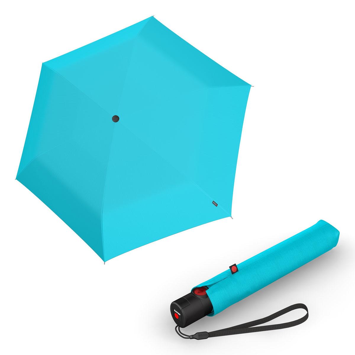 Knirps Ultra U.200 Medium Duomatic - unisex plně-automatický deštník světle modrá