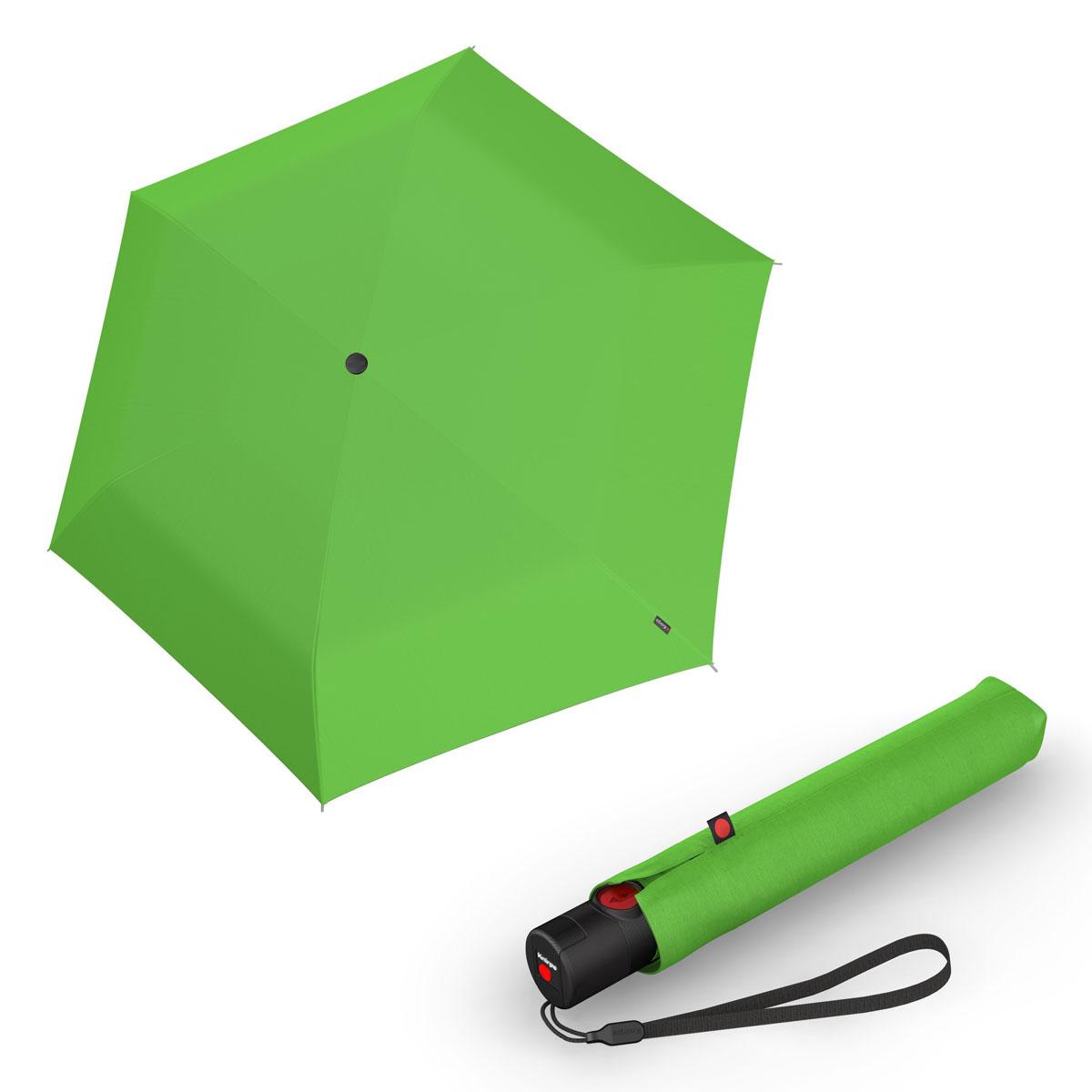 Knirps Ultra U.200 Medium Duomatic - unisex plně-automatický deštník světle zelená