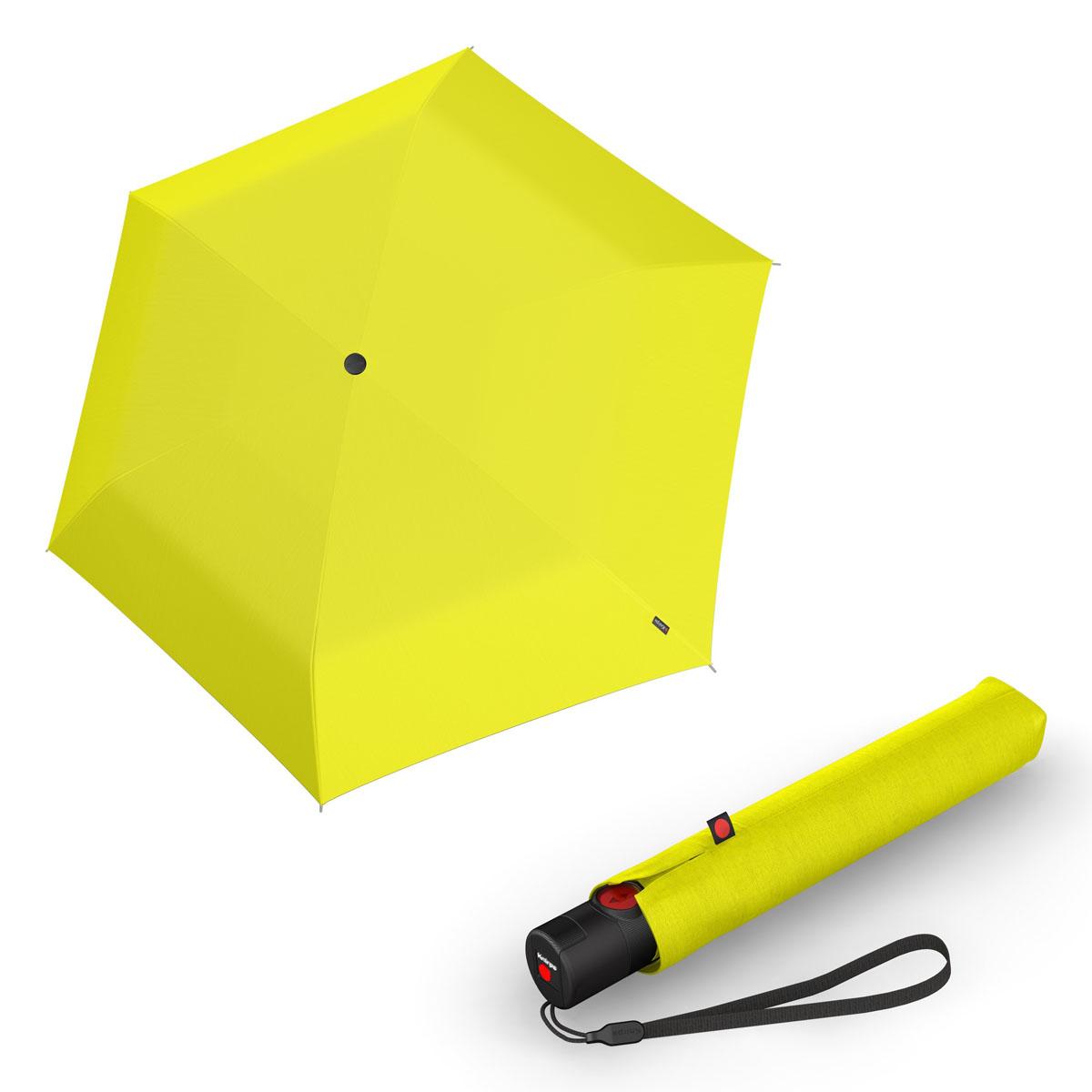 Knirps Ultra U.200 Medium Duomatic - unisex plně-automatický deštník žlutá