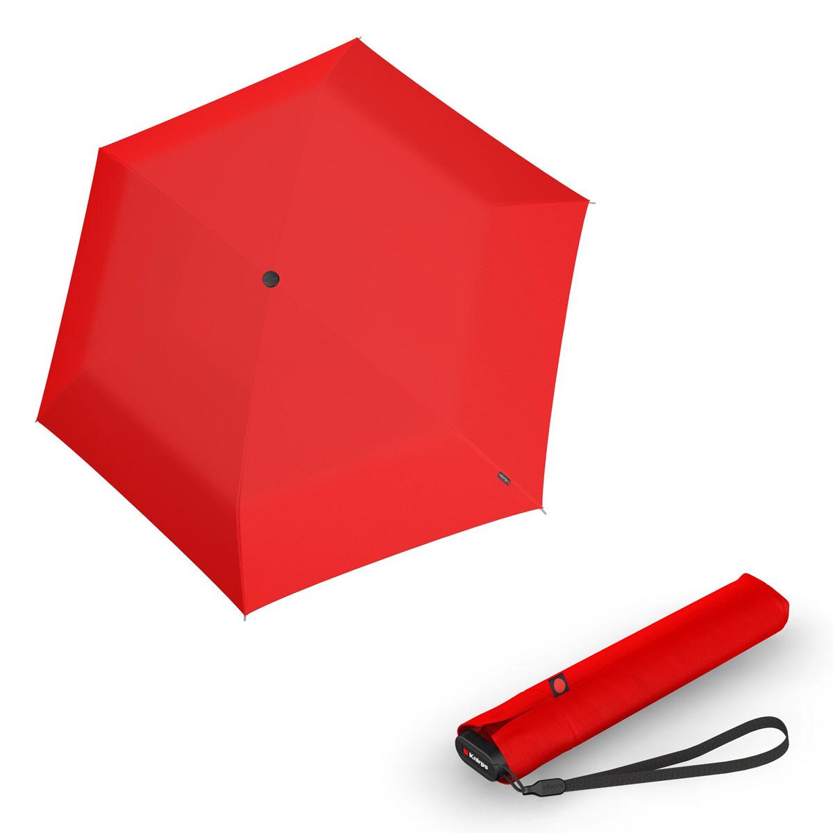 Knirps Ultra US.050 Slim Manual - dámský skládací manuální deštník červená