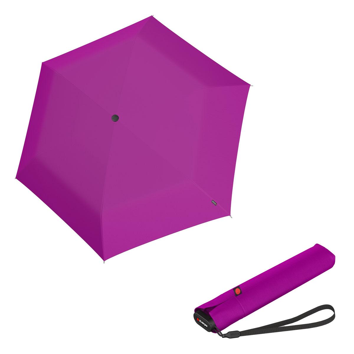 Knirps Ultra US.050 Slim Manual - dámský skládací manuální deštník růžová