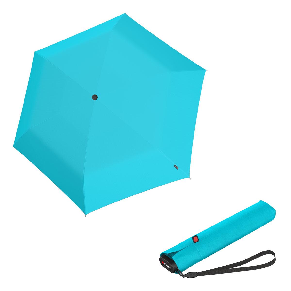 Knirps Ultra US.050 Slim Manual - dámský skládací manuální deštník světle modrá