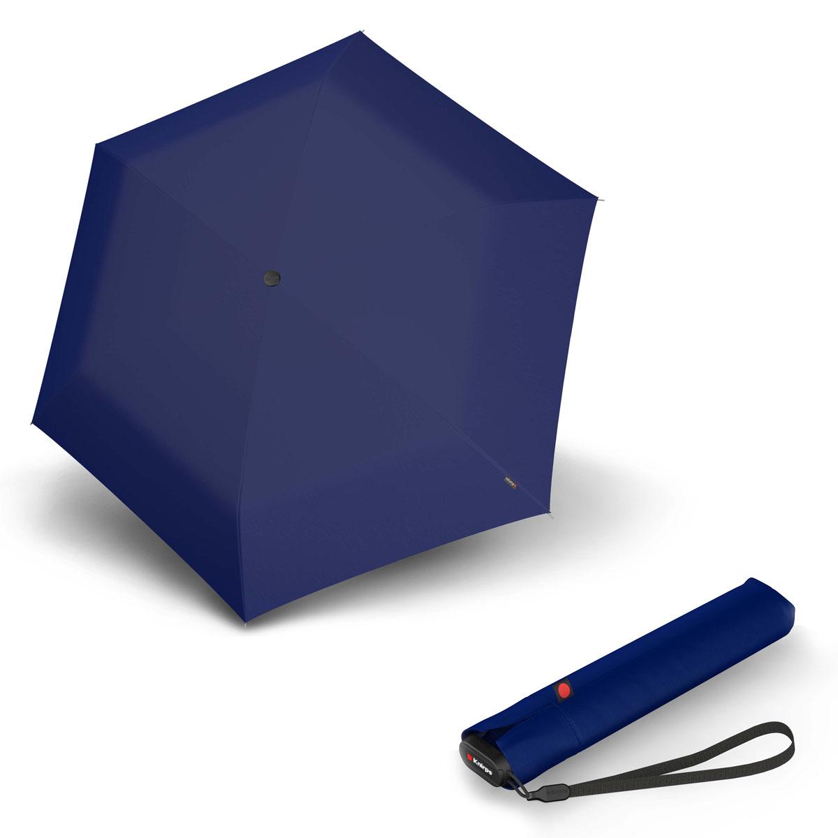Knirps Ultra US.050 Slim Manual - dámský skládací manuální deštník tmavě modrá