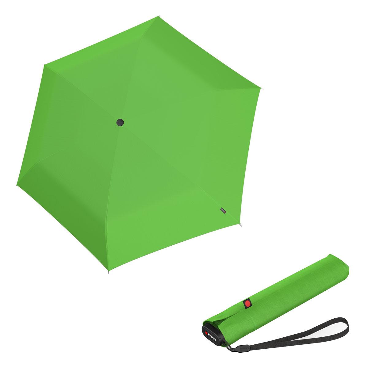 Knirps Ultra US.050 Slim Manual - dámský skládací manuální deštník světle zelená