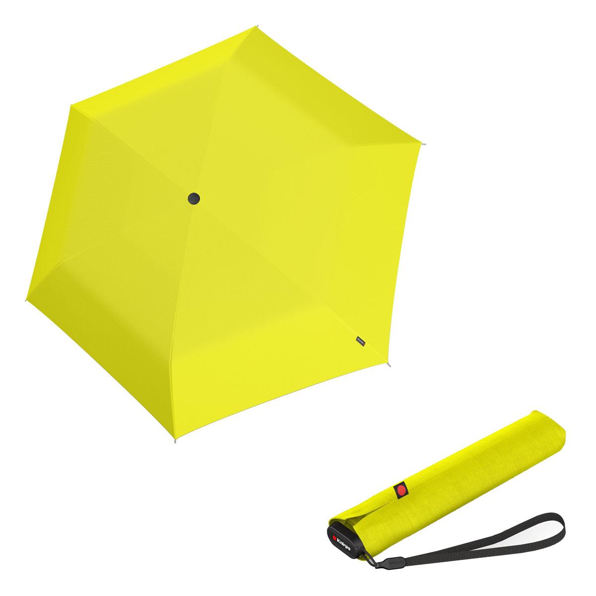 Knirps Ultra US.050 Slim Manual - dámský skládací manuální deštník žlutá