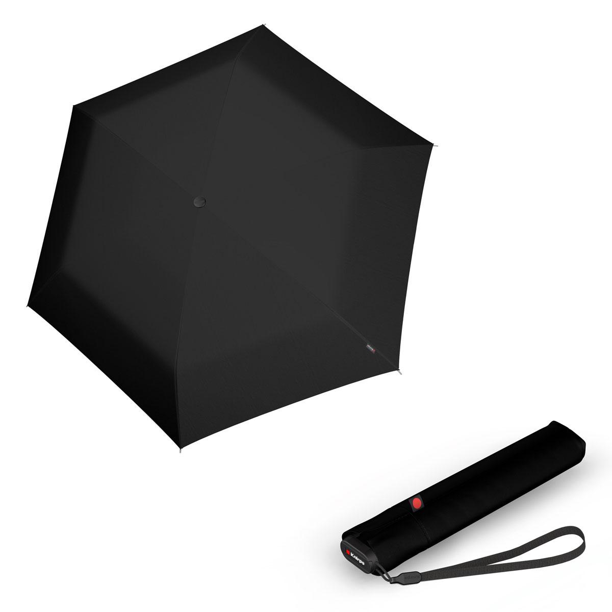 Knirps Ultra US.050 Slim Manual - dámský skládací manuální deštník černá