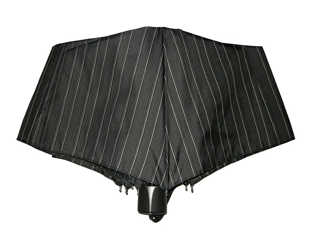 Mini Fiber Doppler - pánský skládací deštník úzký šedý proužek
