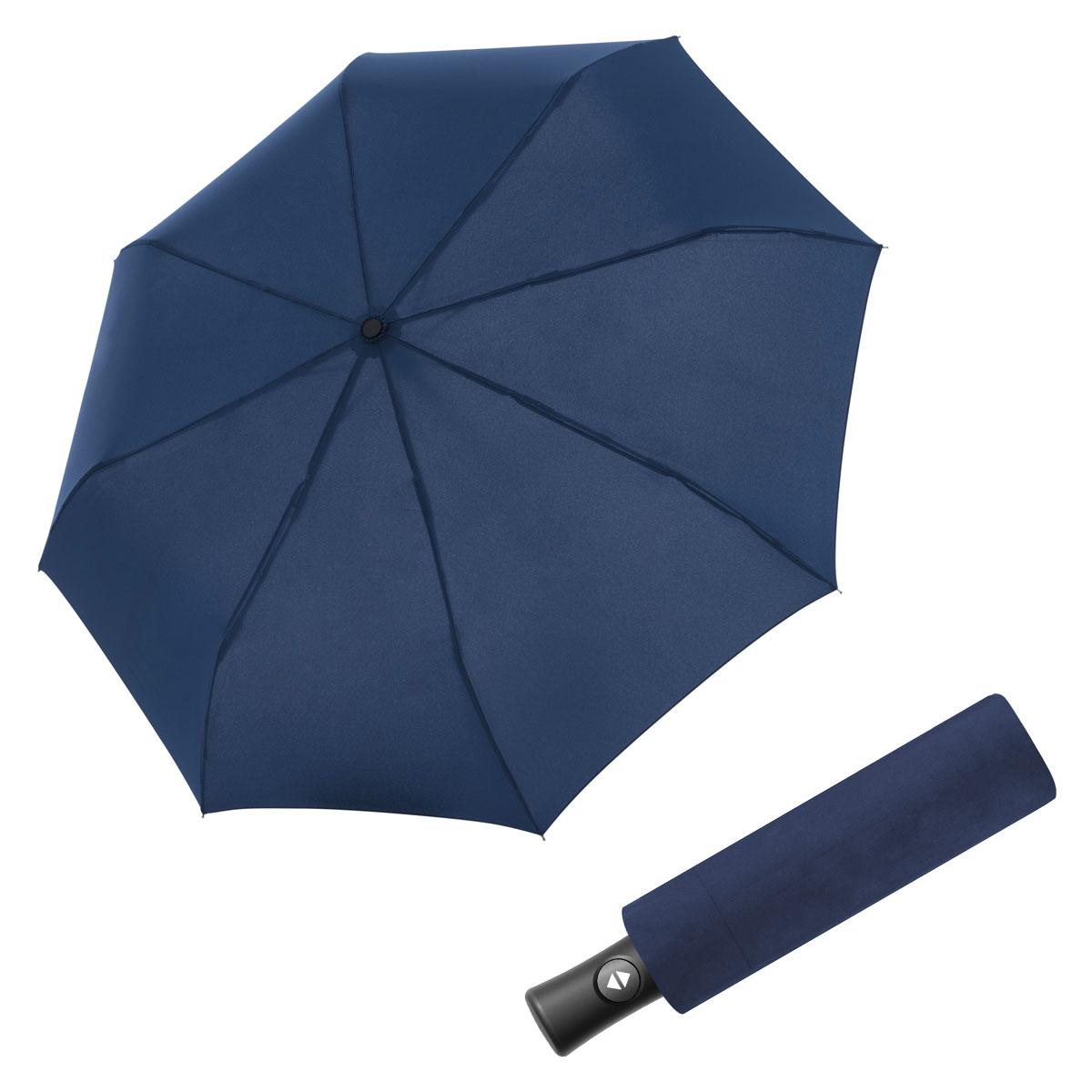 Doppler Magic Fiber Flipback - pánský plně-automatický deštník tmavě modrá